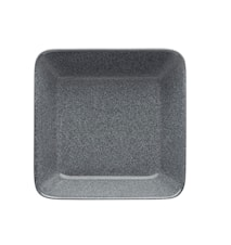Teema tallerken 16x16 cm meleret grå