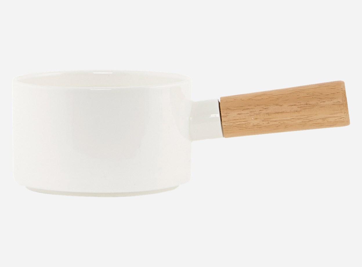 Skål Simply White med handtag Ø 11,5 H 9,8 cm