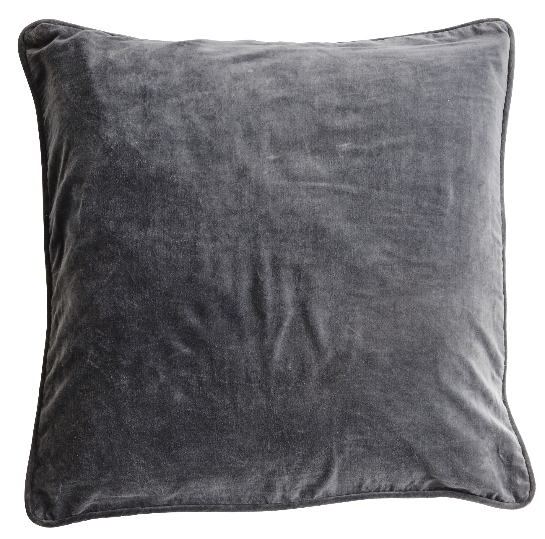 Velvet Cushion Cover Kuddfodral - Unblack