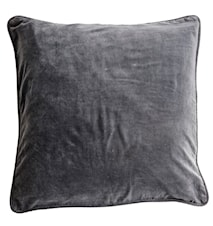 Velvet Cushion Cover Kuddfodral - Unblack