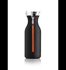 Kylskåpskaraff med lock och neopren black/orange 1,0 l