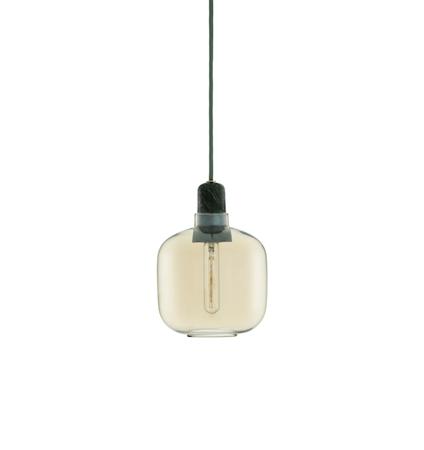Amp Lampa Guld/Grön S
