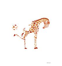Kicking Giraffe Poster