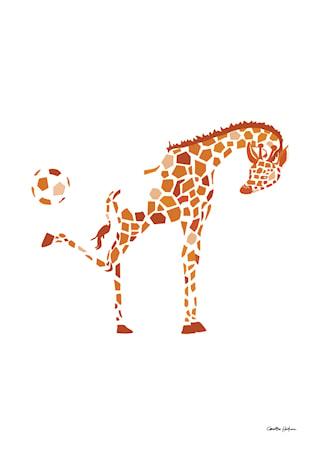 Bild av Christina Heitmann Illustration & Design Kicking Giraffe Poster