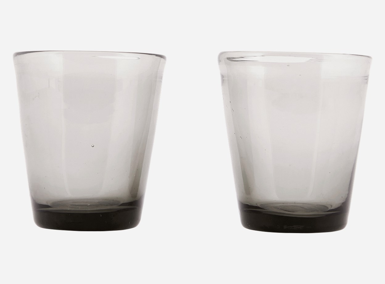Glas Houston Grå Ø 8 Höjd 9 cm
