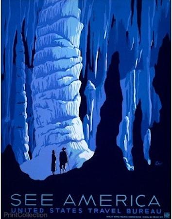 Bild av Print Collection See America Carlsbad poster