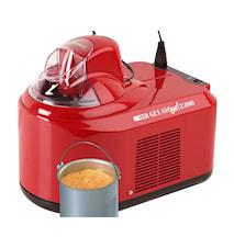 Gelato Chef 2200 Iskremmaskin rød 1,5 liter