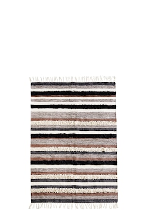 Madam Stoltz Matto 180×120 cm – Musta/offValkoinen