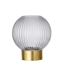 Vas Grey Glass Ø15x16,5 cm