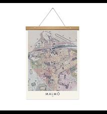 Malmö map poster