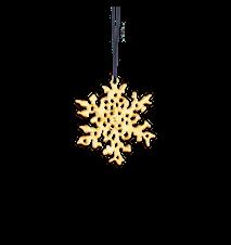Snöflingor, 6 cm, förgyllt