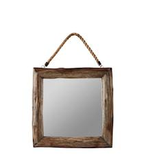 Spegel Ek Natur 40x40 cm