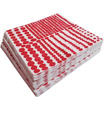 Pricktyg Pappersservetter Röd