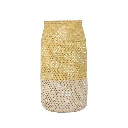 Bild av Bloomingville Lanterna m/Glas Natur Bambu 25x50cm