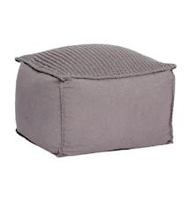 Cotton hand-knit sittpuff - Grå