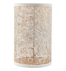 Ljuslykta Ø 12,5x19,5 cm - Vit/guld