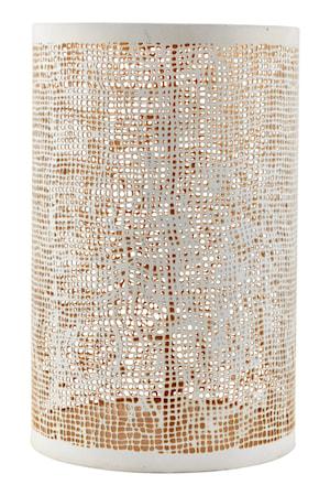 House Doctor Hessian tuikkulyhty valkoinen/kulta k 19,5cm