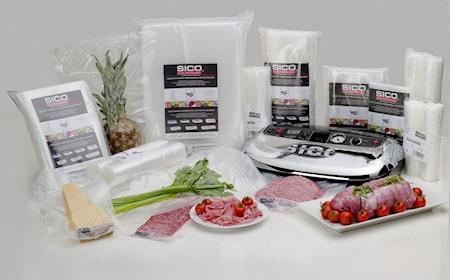 SICO Kitchenware 13×23 cm pusseja vakuumipakkaamiseen 50kpl 30×40 cm Pusseja vakuumipakkaajaan, 50kpl