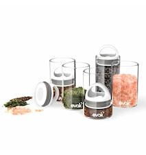 Oppbevaringsboks med hvitt lokk 180 ml