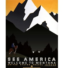 See America Montana poster