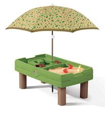 Lekbord med parasoll