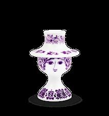 Ljusstake, Rosalinde, lila, H 12 cm