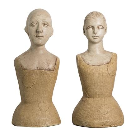 Statue Mannequinn set/2 16x36 cm
