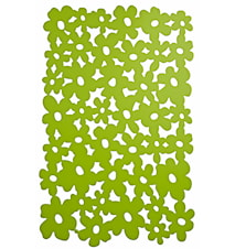 Tablett Blommor Lime 44x28,5 cm
