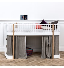 Wood Halvhög säng