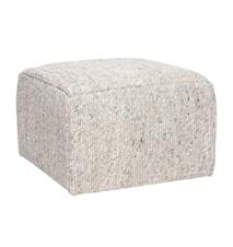 Wool square sittpuff