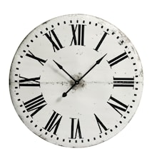 Iron wall clock - white