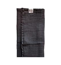 Fresh Laundry Vaffelhåndkle 70x135 cm gråsvart