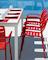 Ocean dining stol - Röd