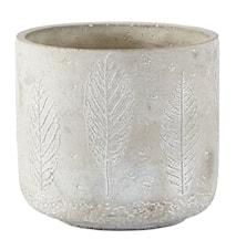 Kruka Cement Grå 13,2x12 cm