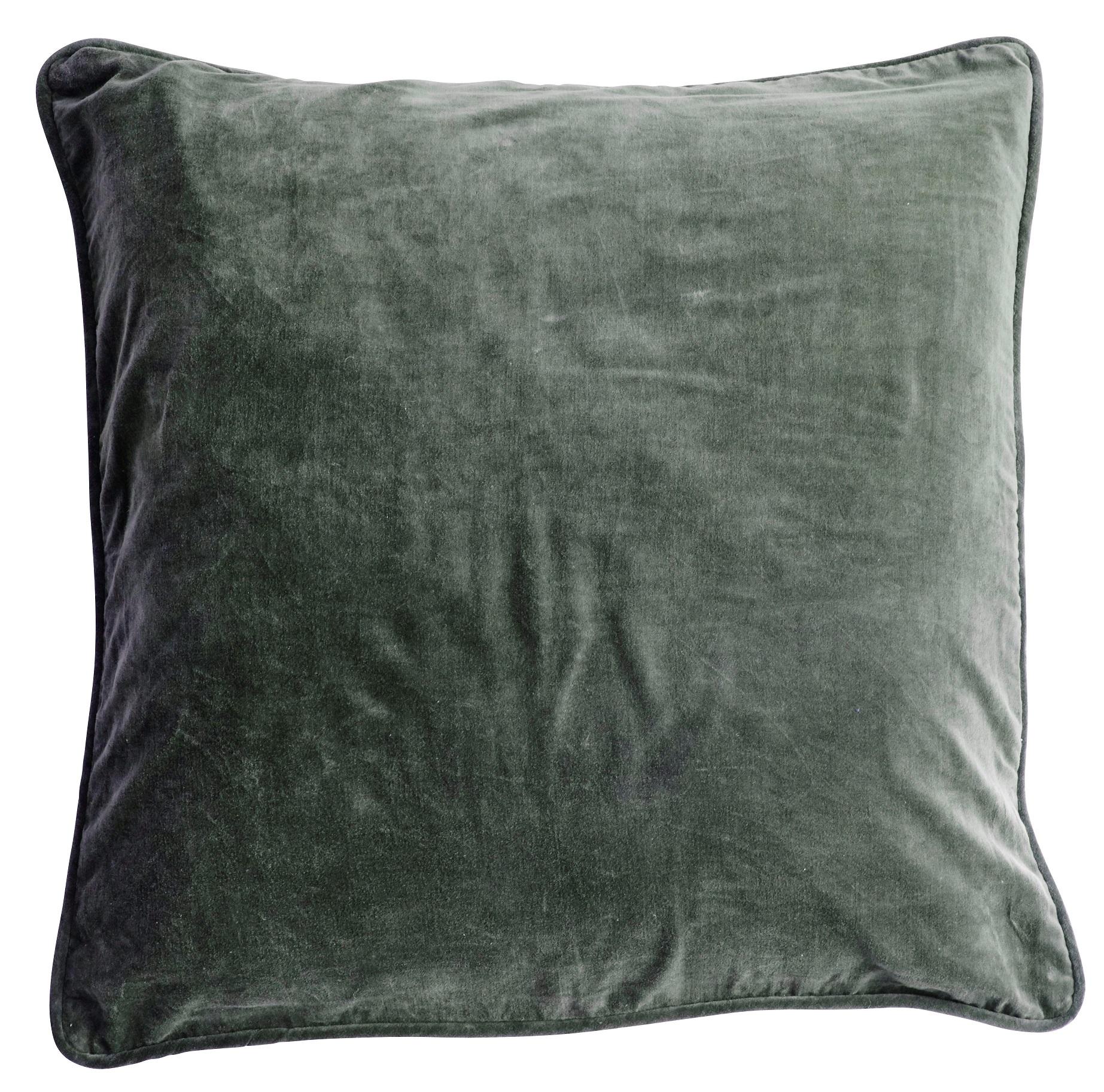 Velvet Cushion Cover Kuddfodral - Agath green