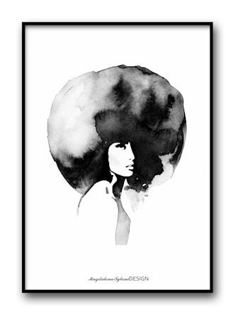 Bild av Magdalena Tyboni Design Women with big haircut poster