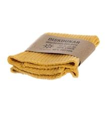 Kjøkkenhåndduk Dov gul, Lin/Bomull