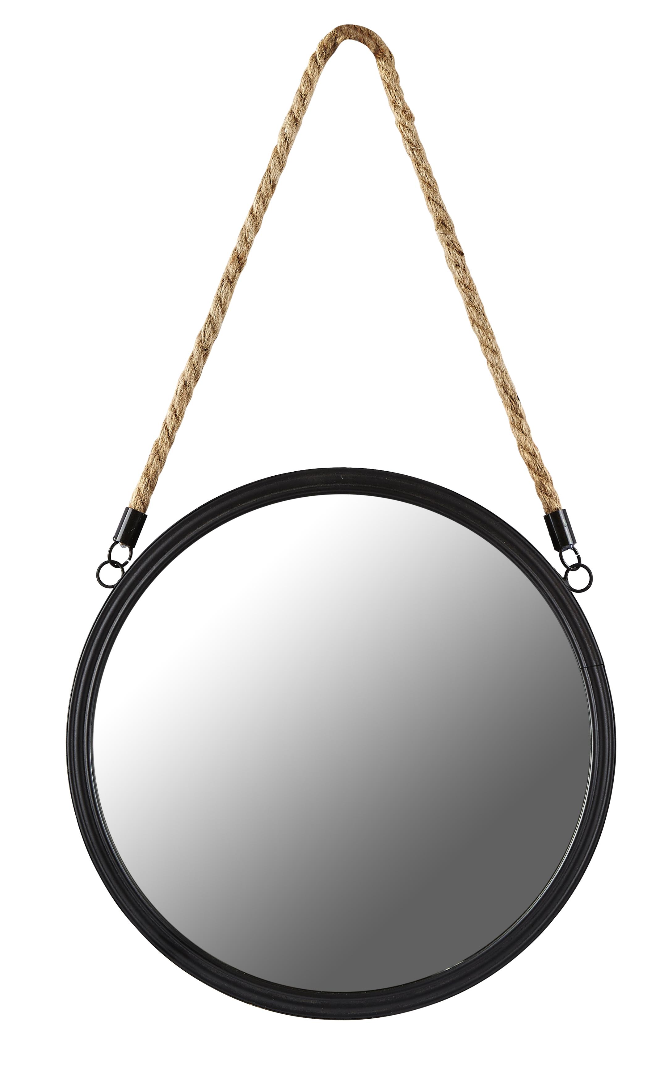 Spegel Metall Svart 30 cm