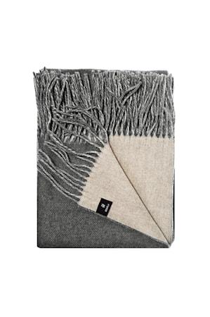 Lammullspläd Vincent 130x170cm mörkgrå