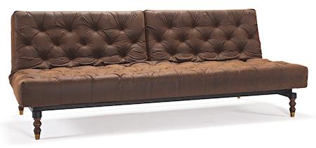 Oldschool Bäddsoffa - Vintage brown leather look