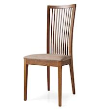 Philadelphia stol – Valnöt, beigt tyg