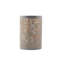 Hessian ljushållare grey/gold h12 cm
