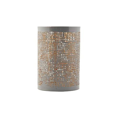 House Doctor Hessian tuikkulyhty harmaa/kulta k12 cm