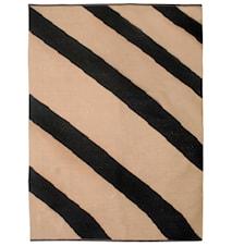 Flow black handvävd matta