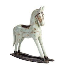 Retro horse white gunghäst