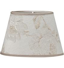 Oval Lampeskjerm Ros Beige 30 cm