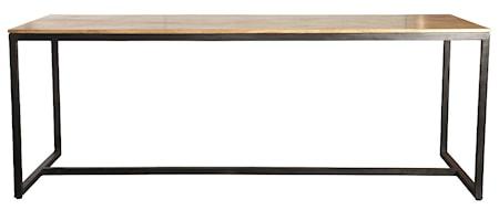 Matbord Form 200x80 cm - Järn/Svart