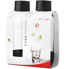 Vattenflaskor 2-pack 50cl PET Svart