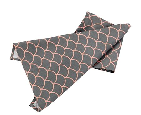 Handduk japanese grå/korall