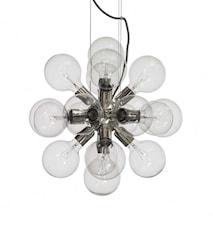 Lux silver taklampa
